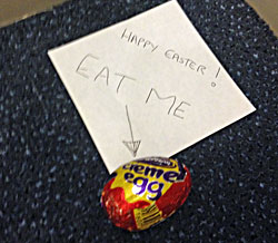 Creme Egg In Lift
